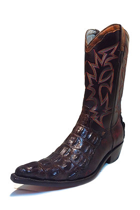 Crocodile mixed Lizard Leather Western Cowboy Boot