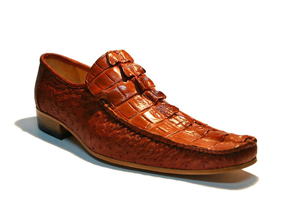 Crocodile mixed OstrichDress Shoe for Men
