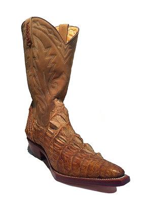 Crocodile mixed Cow Skin Cowboy Western Boot