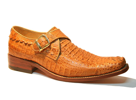 Crocodile monk strap shoe