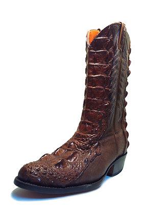 Crocodile mixed Cow Western Cowboy Boot