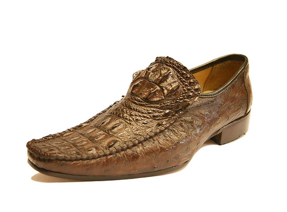 Crocodile mixed Ostrich Dress Shoe for Men