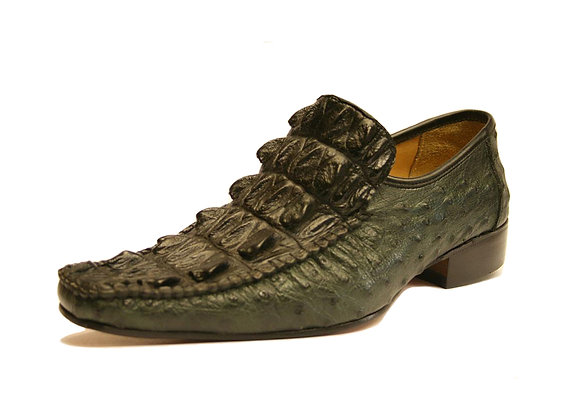 Crocodile mixed Ostrich Dress Shoe for Men