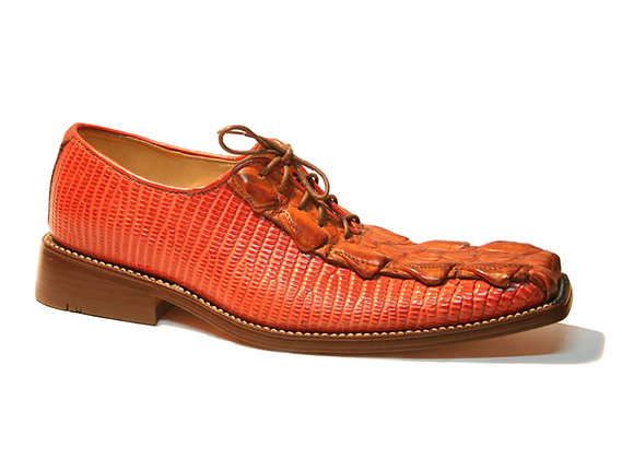 Crocodile mixed Lizard Oxford Shoe for Men