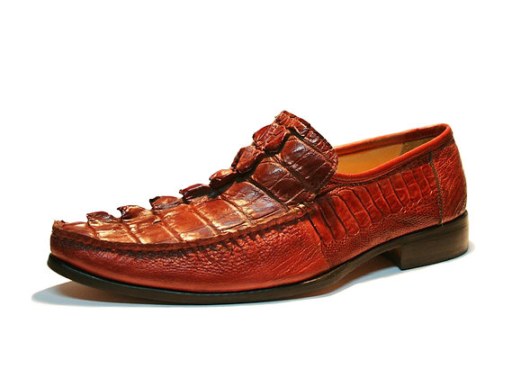 Crocodile mixed Ostrich Leg Dress Shoe for Men