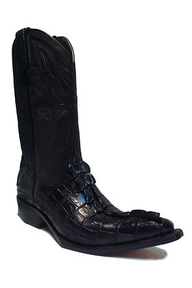 Crocodile mixed Cow Skin Shortie Western Boot