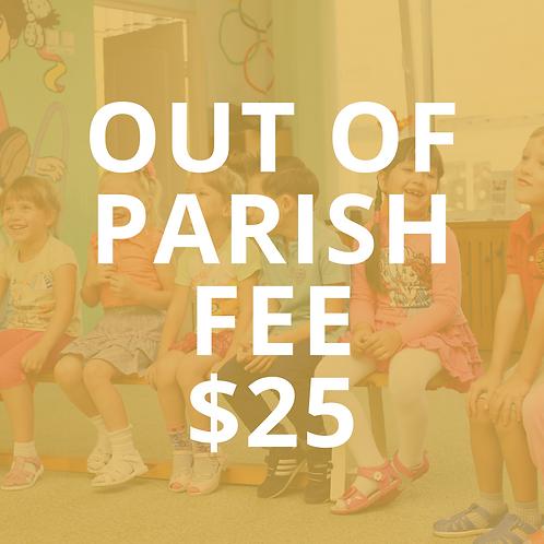 Out of Parish Fee - PREP
