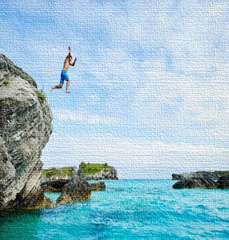 My turn to jump off a cliff….