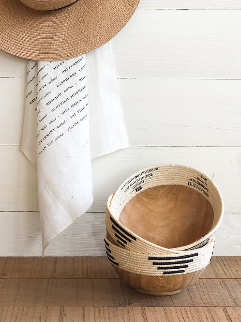 Wood + Woven Handmade bowl