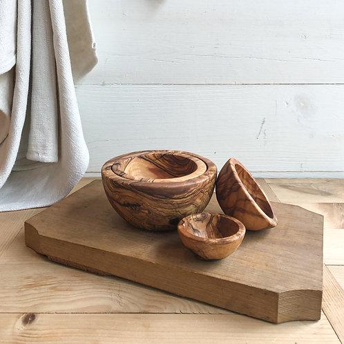 Olive Wood Nesting Bowls