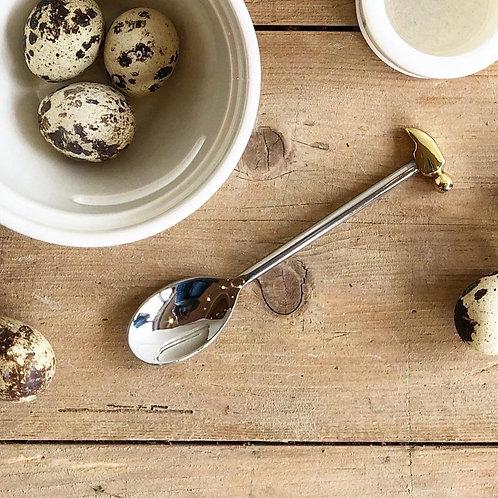 Gold + Silver Egg Spoon