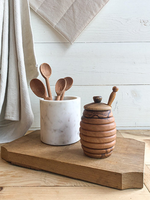 Olive Wood Honey Pot