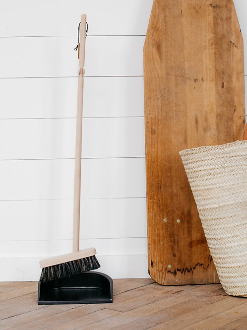 Metal Dustpan + Broom