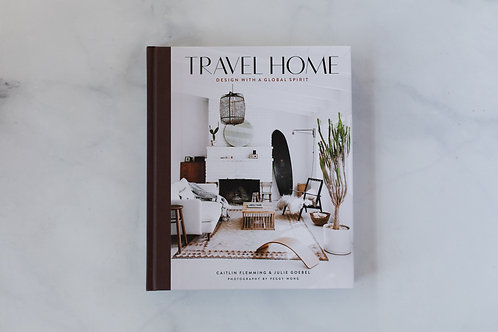 Front cover of Travel Home. Sold by Salt Creek Mercantile.