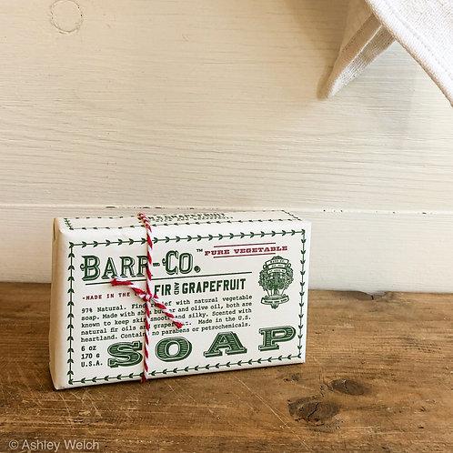 Barr Co. Fir + Grapefruit Bar soap