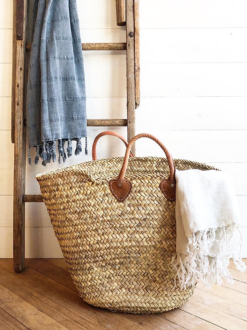 Rustic French Laundry/Market Tote