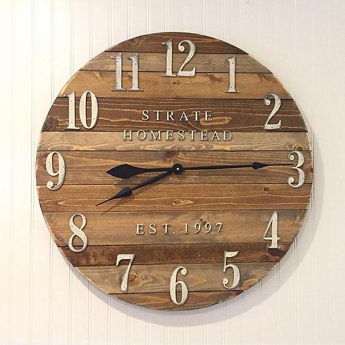 Wooden Plank Wall Clock