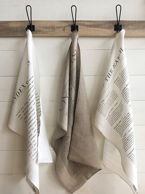 Linen Tea Towels - Oyster, Tea, or Salt