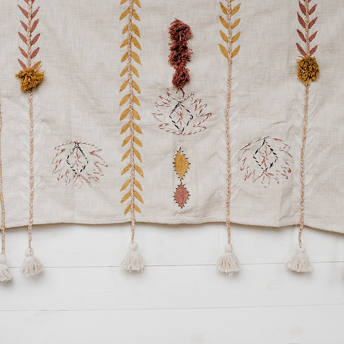 Cotton Embroidered Throw