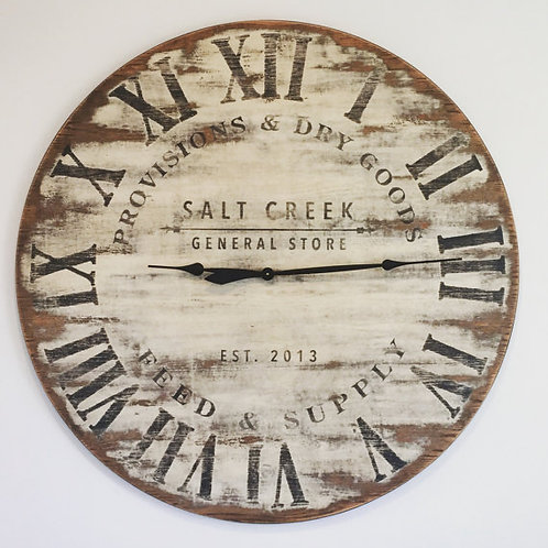 Antiqued General Store Wall Clock
