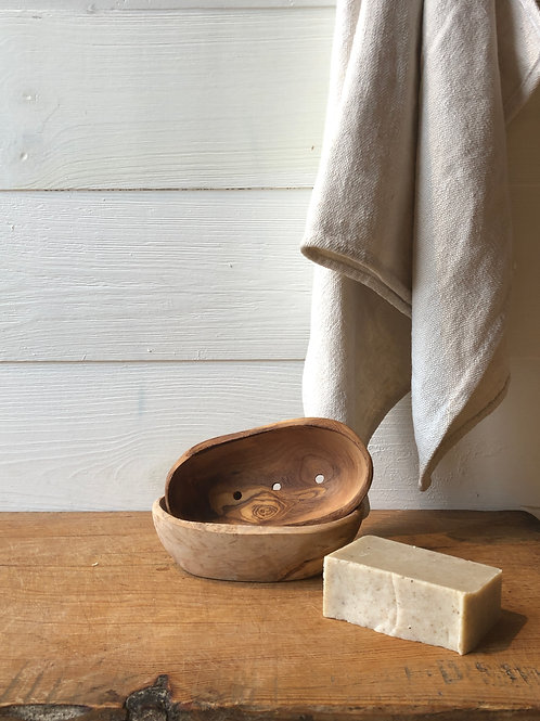 Live Edge Wood Soap Dish