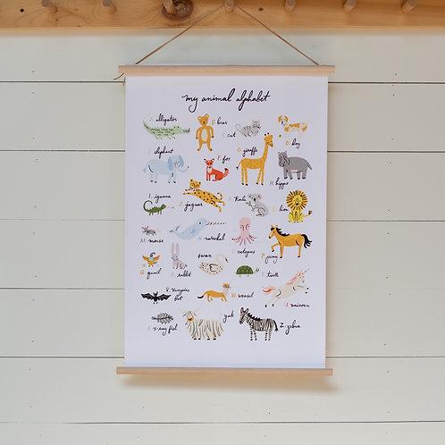 Children's A-Z Canvas Banner