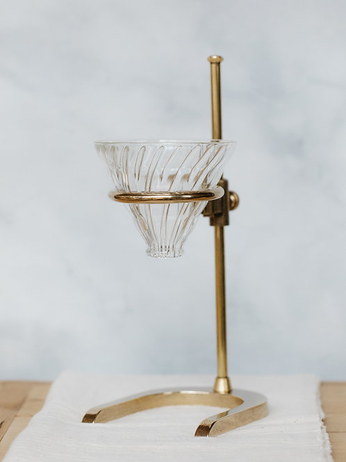 Solid Brass Pour-Over Stand