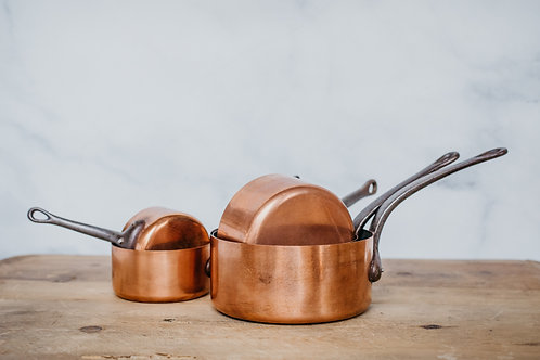 Vintage Copper Pots (Set #1)