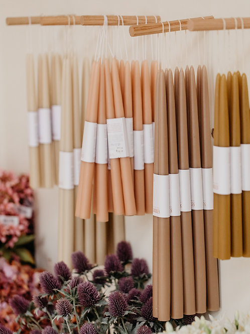Floral Society Taper Candles