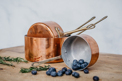 Vintage Copper Pots (Set #5)