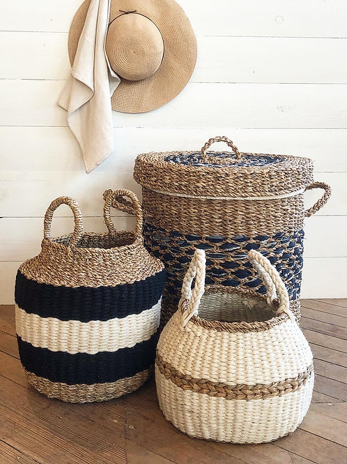 Cream + Natural Seagrass Basket