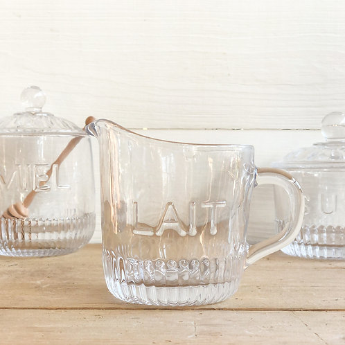 French Glass Creamer