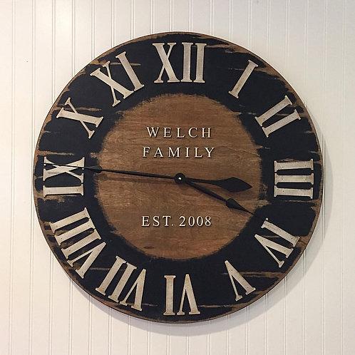 Roman Numeral Blackboard Wall Clock