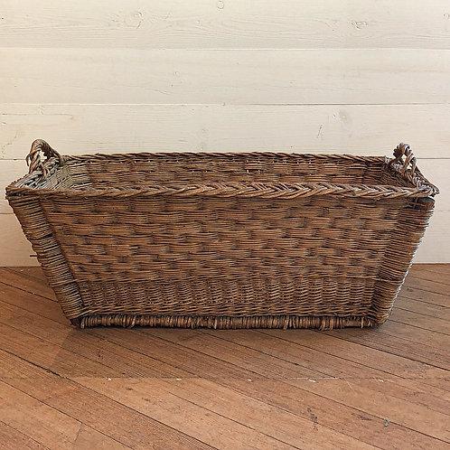 Vintage European Willow Laundry Basket XL#3