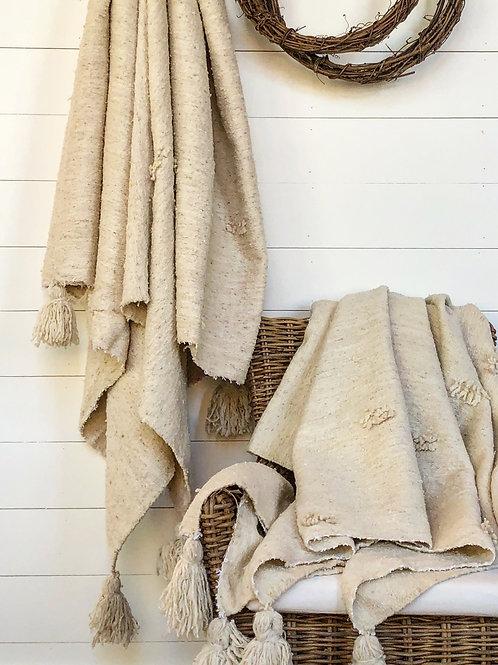 Organic Cotton + Wool Handwoven Throw