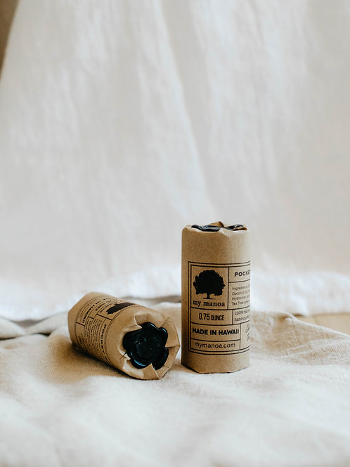 Mini hand-cut soaps in eco-friendly tube packaging with a black wax seal. Sold by Salt Creek Mercantile.