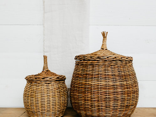 Wicker Canisters