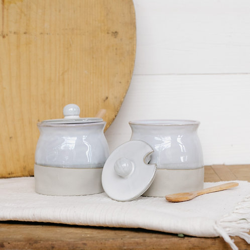Stoneware Sugar Pot