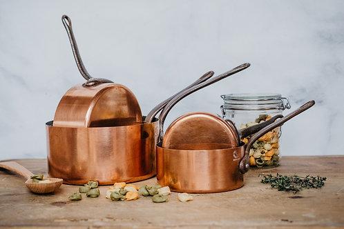 Vintage Copper Pots (Set #3)