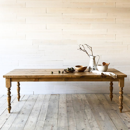 Original Distressed Farmhouse Dining Table