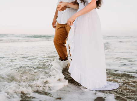 Danny + Adriana's Surprise Beach Engagement: South Padre Island, Texas
