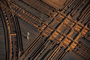 D1429001 Chicago rail tracks by Duane Bi