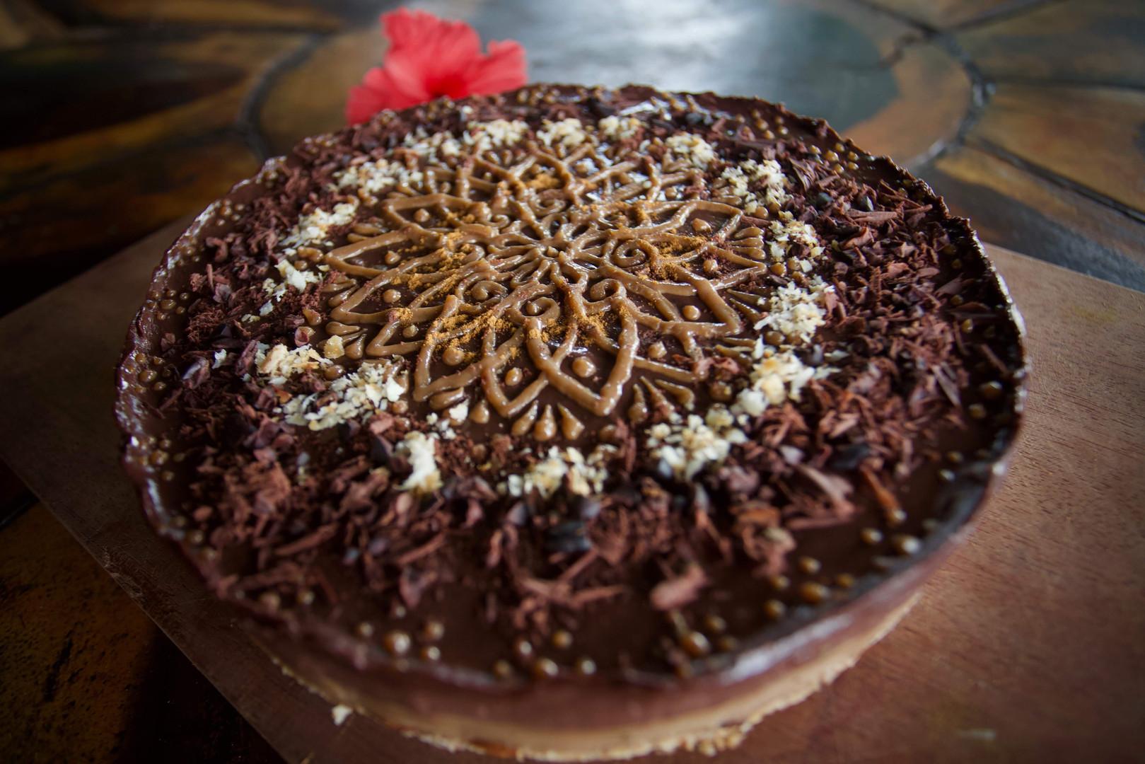 cardamon chocolate vegan cake