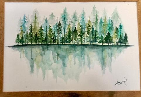 Treescape watercolor