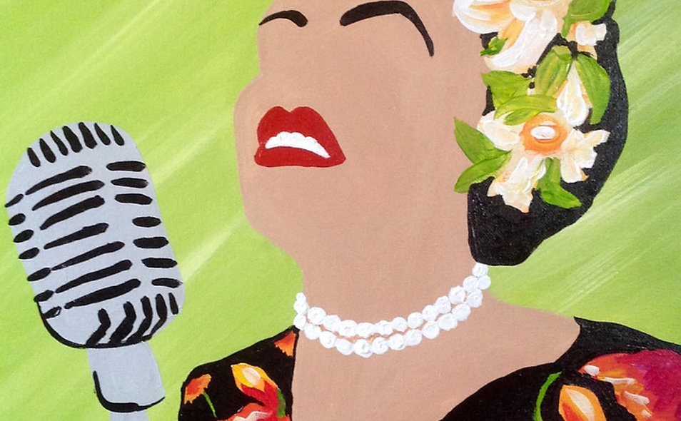 Adult Paint N Sip- Billie Holiday