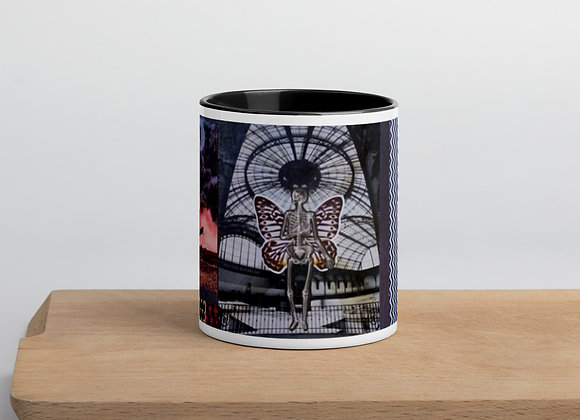 Dylan collage Mug with Color Inside