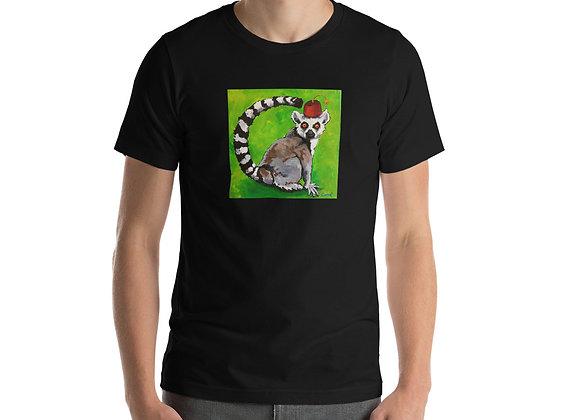 Lemur in a fez t-shirt