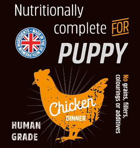 Raw Menu Puppy Chicken Dinner 500g