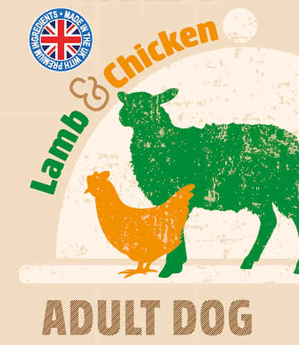 Raw Menu Adult Dog Lamb & Chicken Dinner 500g