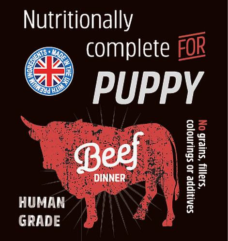 Raw Menu Puppy Beef Dinner 500g
